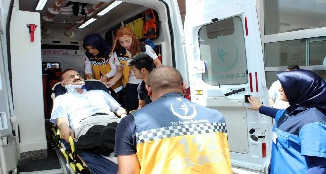 Kahtalı Hamido kazada yaralandı
