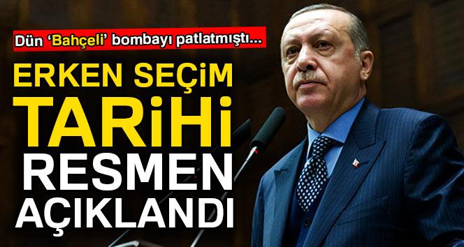 Erdoğan açıkladı, Türkiye erken seçime gidiyor!