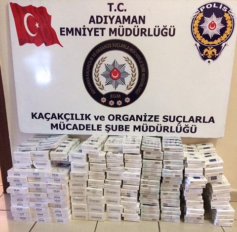 Adıyaman'da 5 Bin 770 Paket Kaçak Sigara Ele Geçirildi