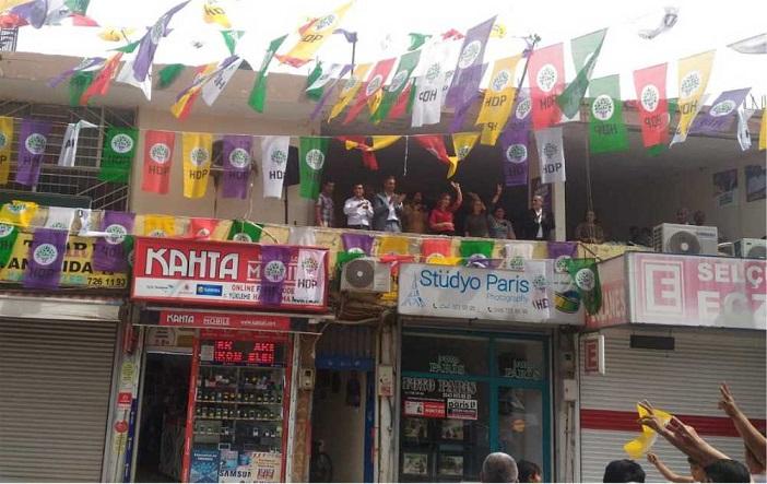HDP Kahta'da Seçim Bürosu Açtı