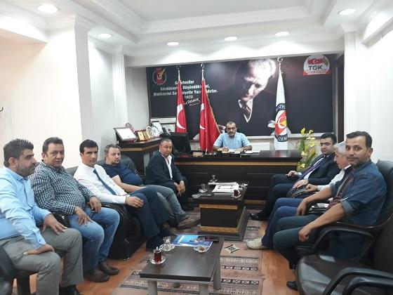Cumhuriyet Başsavcısı Bozan Çevik'ten Adıyaman Gazeteciler Cemiyetine Ziyaret