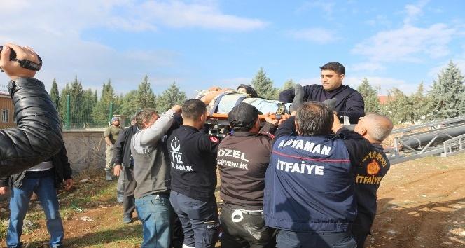 Caminin kubbesinden düşen işçi ağır yaralandı