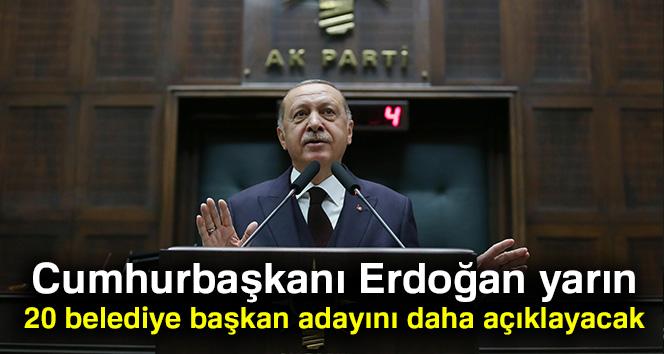 Cumhurbaşkanı Erdoğan yarın 20 ismi daha açıklayacak
