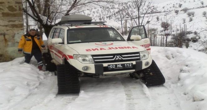 Sincik'te Kar Paleti Hayat Kurtarıyor