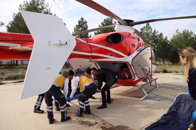 Sincik'te Hastaya Karadan Ulaşılmayınca Havadan Ulaşıldı