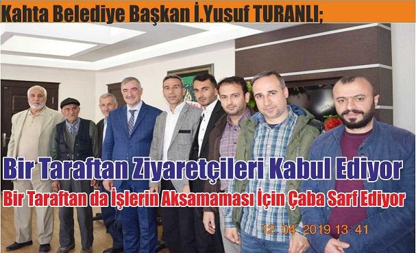 Başkan TURANLI;Bir Taraftan Ziyaretçileri Kabul Ediyor