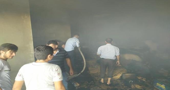 Kahta'da İş yerinde çıkan yangın korkuttu