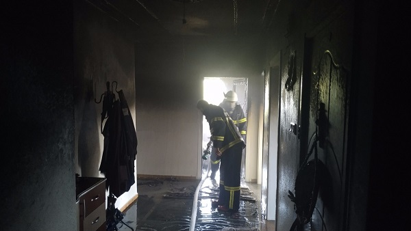 Kahta'da  Yangında Anne Ve 3 Yaşındaki Çocuğu Dumandan Etkilendi