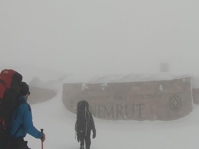 Nemrut Dağı'nda dağcılara tipi engeli