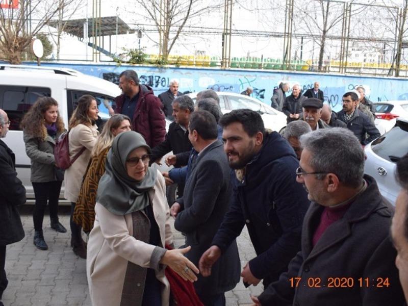 HDP Milletvekili Hüda Kaya, Kahta'ya Geldi