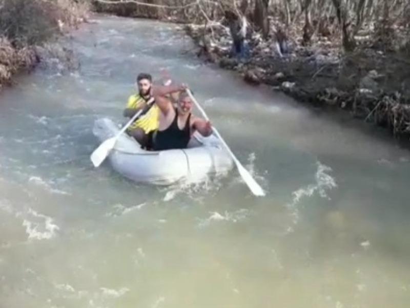 Nemrut Dağı Eteğinde Kar Suyunda Rafting Heyecanı
