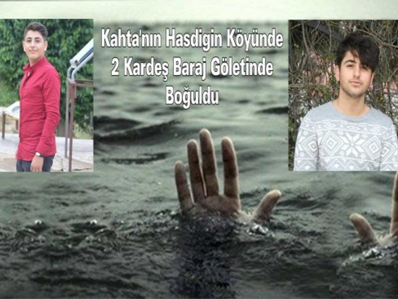 Kahta'nın Hasdigin Köyünde 2 Kardeş Baraj Göletinde Boğuldu