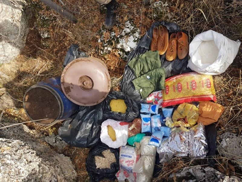 Adıyaman'da PKK'ya ait yaşam malzemesi ele geçirildi