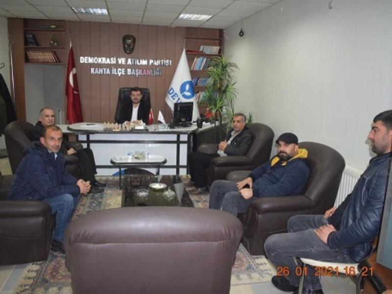 """Deva Partisi Kahta İlçe Başkanı TURANLI; """"Hep birlikte güçleneceğiz"""""""