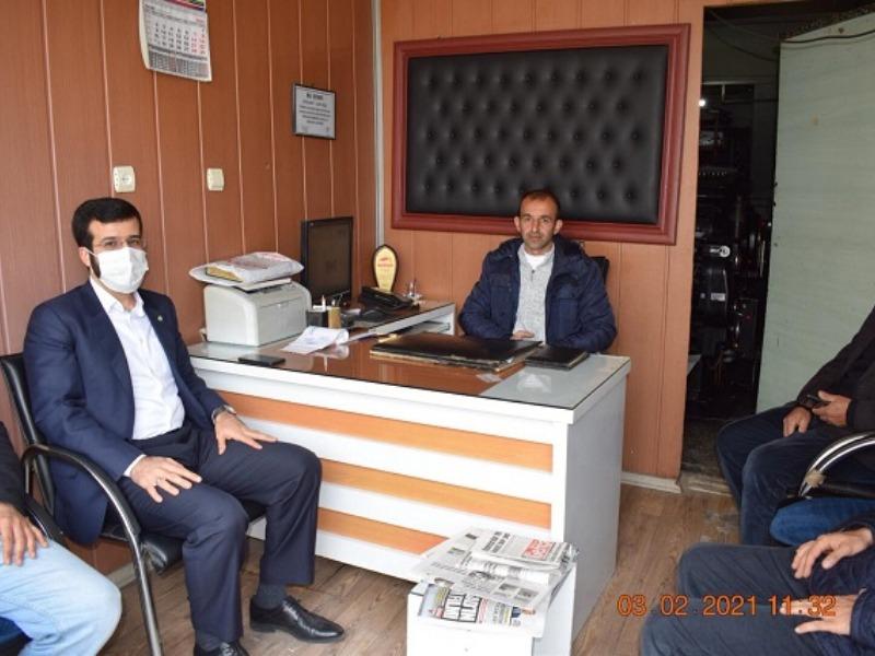 Hüda Par Kahta İlçe Başkanı Gazetemizi Ziyaret Etti