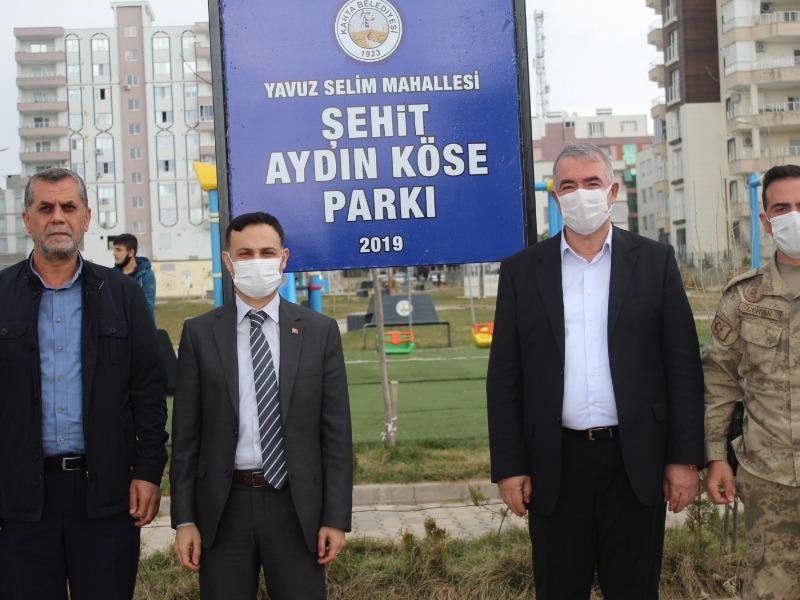 Kahta Belediyesi Gara şehidinin ismini parkta yaşatacak