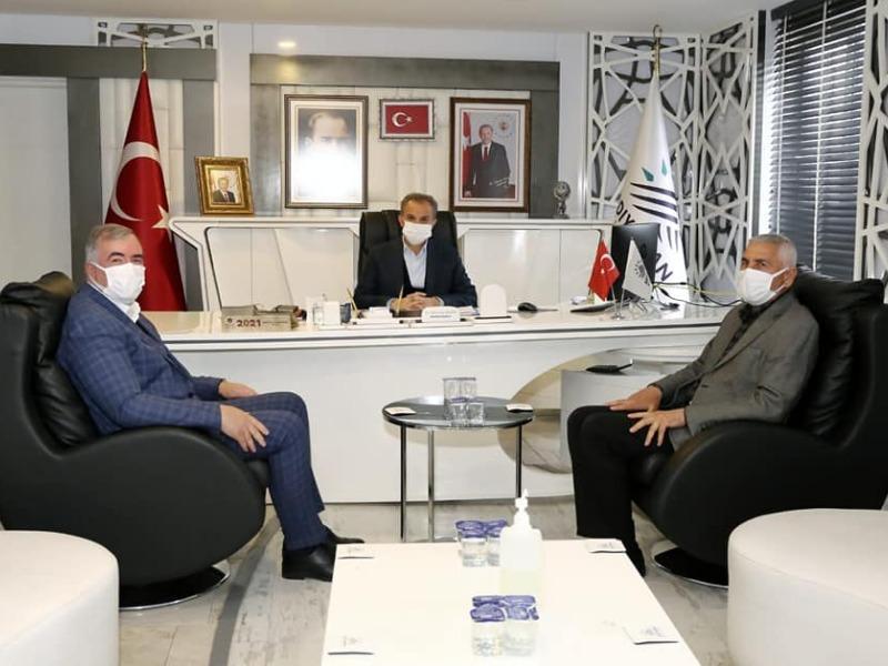 Kahta Belediye Başkanı Turanlı'dan, Başkan Kılınç'a ziyaret
