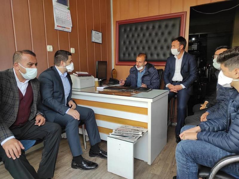 Milletvekili Toprak, Gazetemizi ziyaret etti Kahta Sorunları Konuşuldu